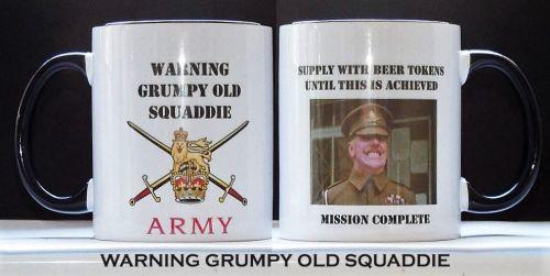 Warning Grumpy Old Squaddie Mug
