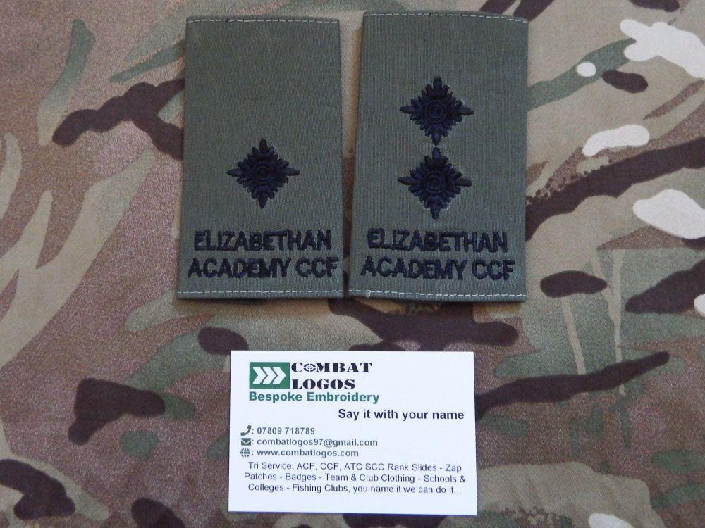 Elizabethan Academy Cadet Rank Slides
