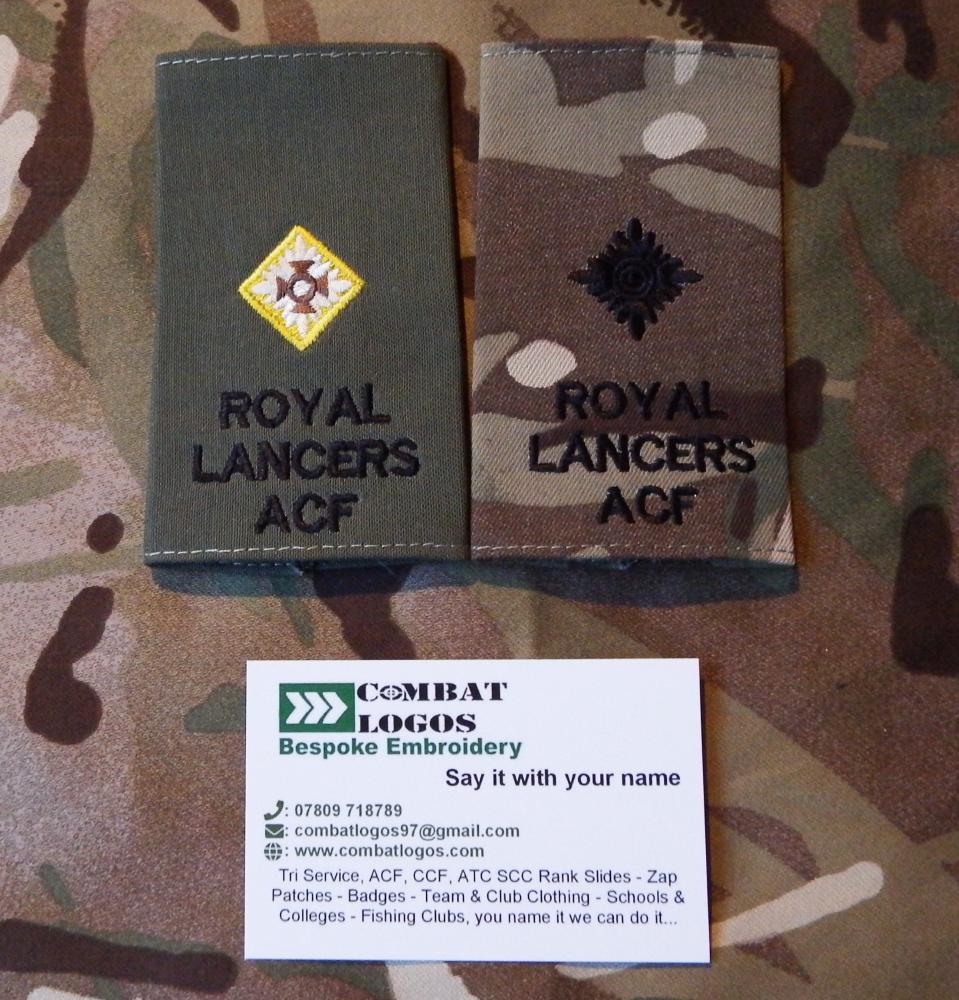Royal Yeomanry Rank Slides