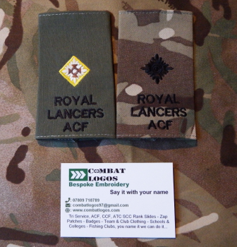 Royal Lancers Rank Slides