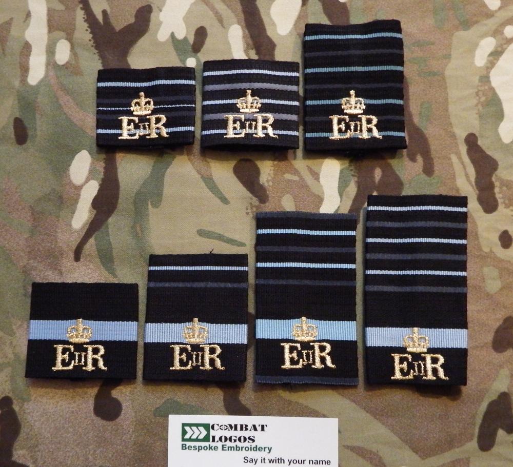 Bespoke RAF Unit Rank Slides