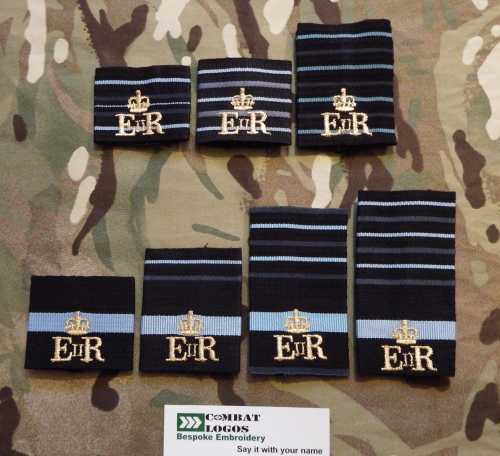 Bespoke RAF Unit Rank Slides