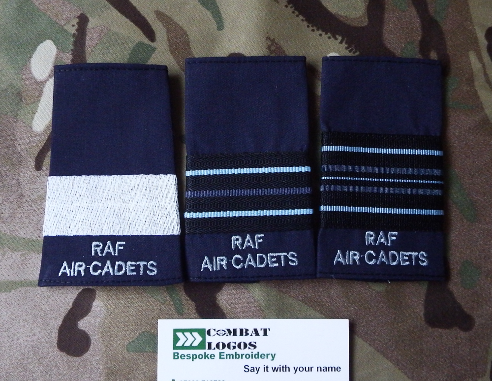 RAF & RAF Air Cadet Officer Rank Slides