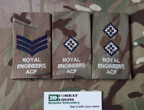 Royal Engineers Rank Slides