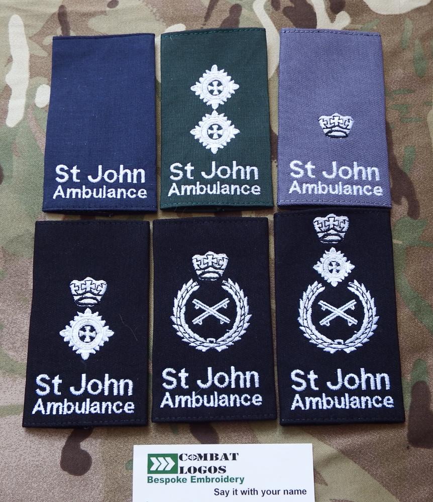 St John Ambulance Rank Slides