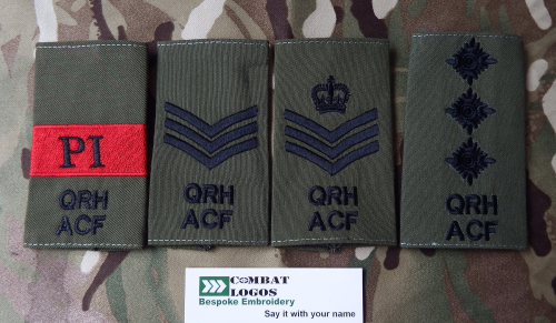 Queens Royal Hussars Rank Slides