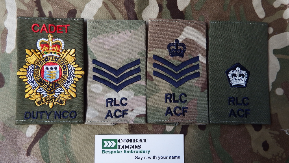 Royal Logistic Corps Rank Slides