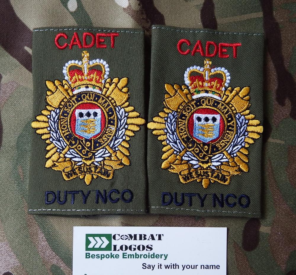 RLC Cadet Duty NCO Rank Slides