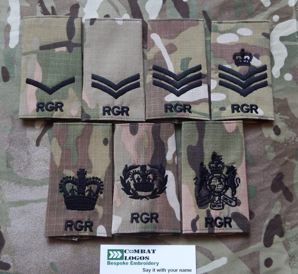 Royal Gurkha Rifles Rank Slides