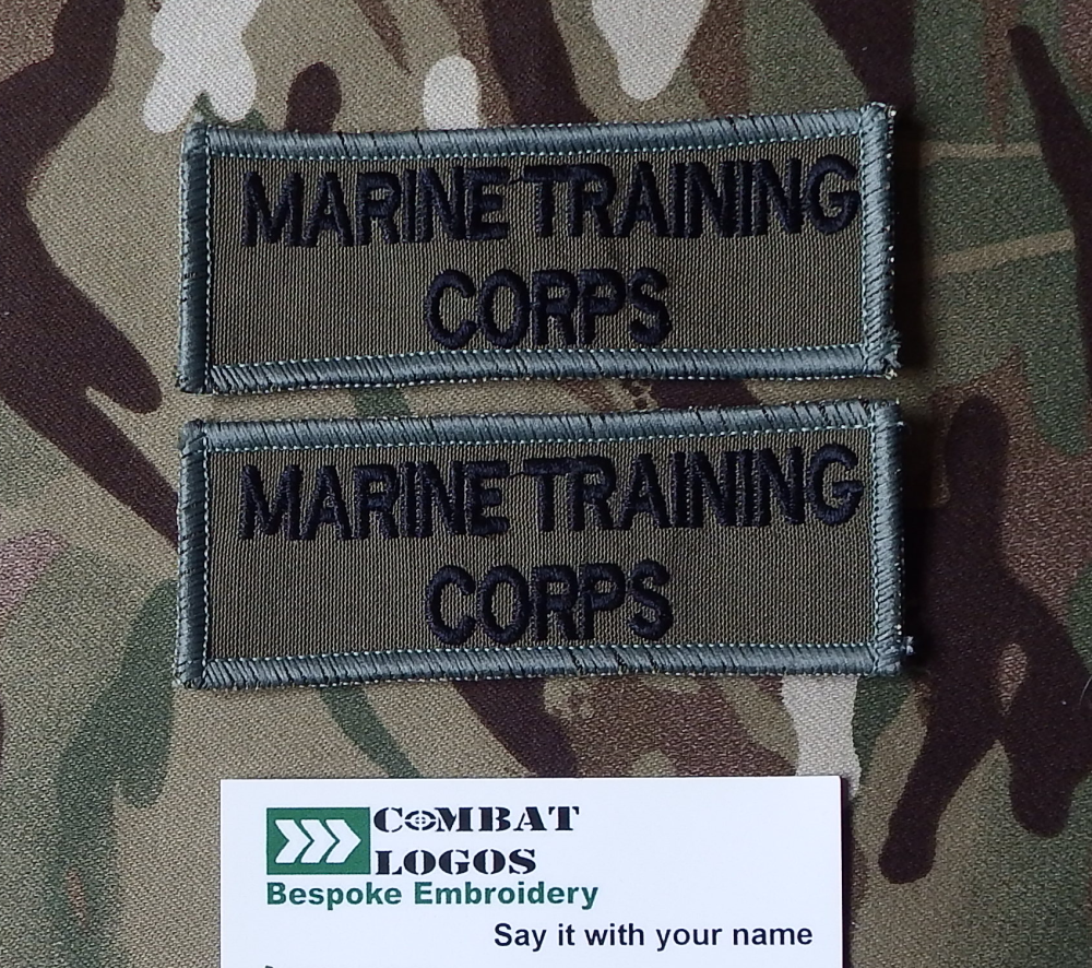 Marine Training Corps Name Patch