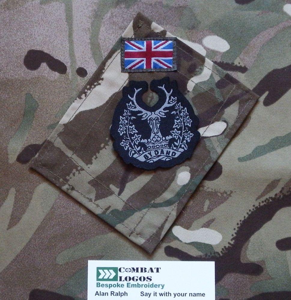 The Gordon Highlanders Woven Cap Badge