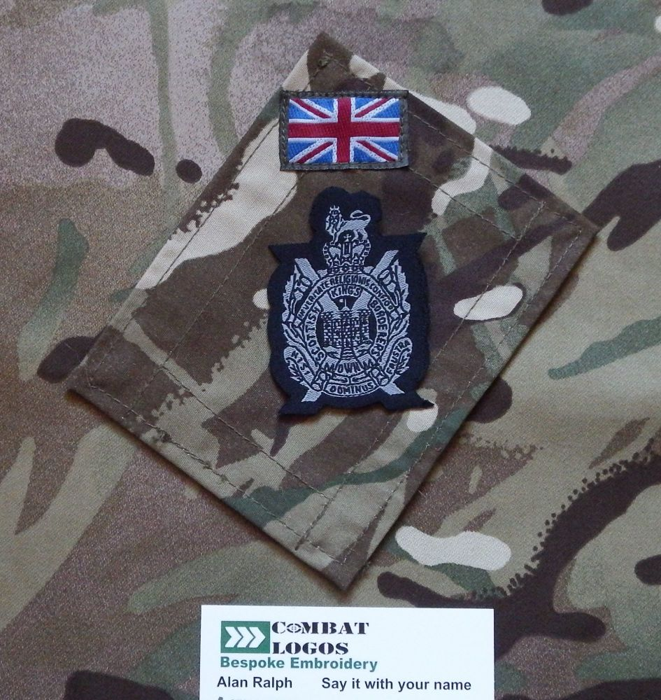 The Royal Scots Woven Cap Badge