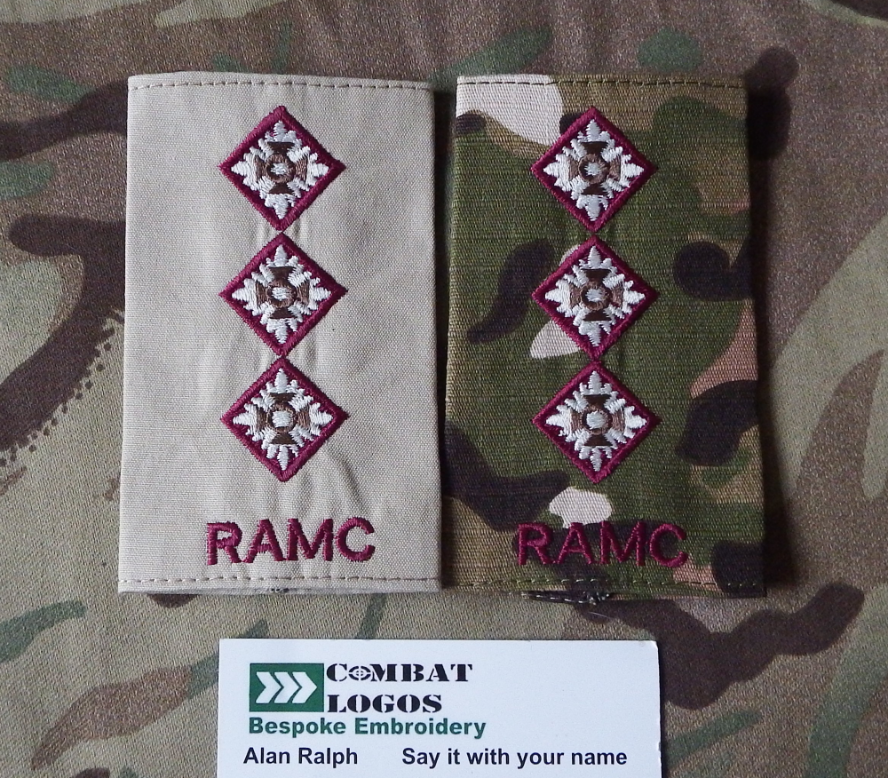 Royal Army Medical Corps  Rank Slides