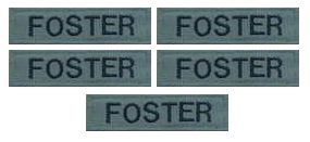 Name Patch Pack of 2