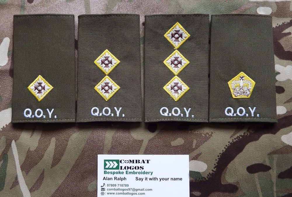 Queens Own Yeomanry Rank Slides