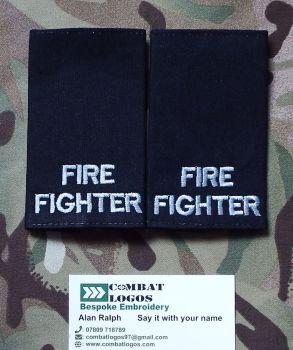 Fire Brigade Rank Epaulettes
