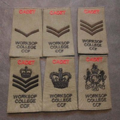 Worksop College CCF Cadet Rank Slides