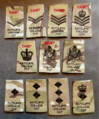 Ratclife College CCF Cadet & CFAV Rank Slides
