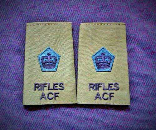 ACF and CCF Rifles Rank Slides