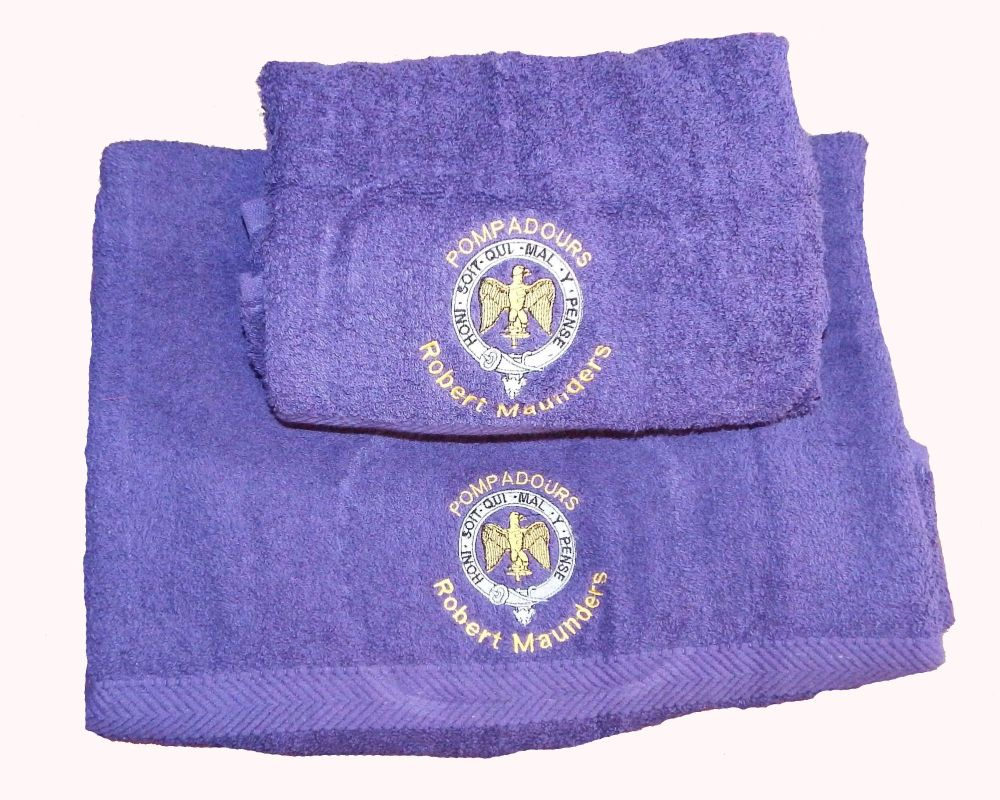 Pompadours Towel Set