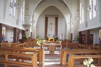 interior at Easter