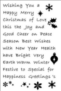 Woodware Clear Magic - Must Have Christmas Words