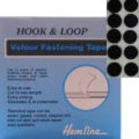Velour Hook & Loop Dots - Black