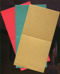 Single Fold Card Blanks - Mini - Christmas Pearlescent