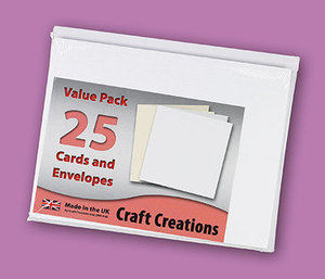 Single Fold Card Blanks - 69x184mm - Textured