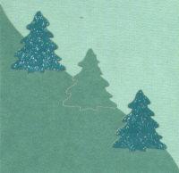 Light Arted Card Kit - Mini Shaped - Christmas Trees