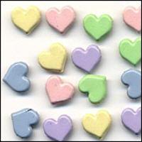 Brads - Hearts - Pastels