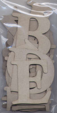 BAY6 - Basic Chipboard - Uppercase Alphabet