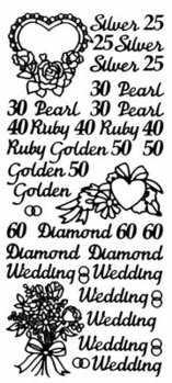 Peel Off Stickers - Anniversaries