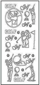 Peel Off Stickers - Golf