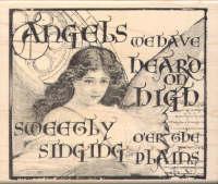 Inkadinkado Rubber Stamp - Angels We Have Heard