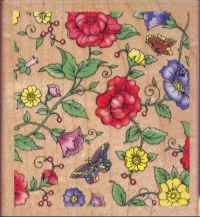 Rubber Stampede - All Over Floral
