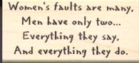 Women's Faults