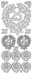 25 Wreaths Peel Off Stickers