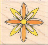 Funstamps Rubber Stamp 3D Flower 2