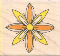 Funstamps Rubber Stamp 3D Flower 2