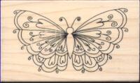 Inca Rubber Stamp 3D Heart Butterfly