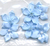 5 Petal Pearl Violets - Light Blue