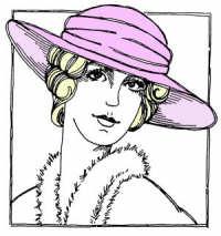 Rubbernecker Rubber Stamp - Annette