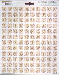 Paper Adventures Antique Alphabet Stickers