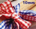 Berisfords Gingham Ribbon - 10mm