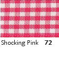Berisfords Gingham Ribbon - Shocking Pink