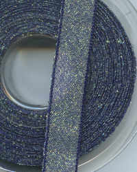 Berisfords Ribbon - Metallic Dazzle - Navy Blue - 15mm