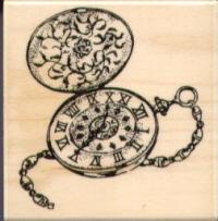 Stampabilities Rubber Stamp - Antique Timepiece