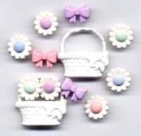 Buttons - Flower Girl