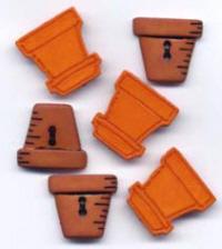 Buttons - Flower Pots